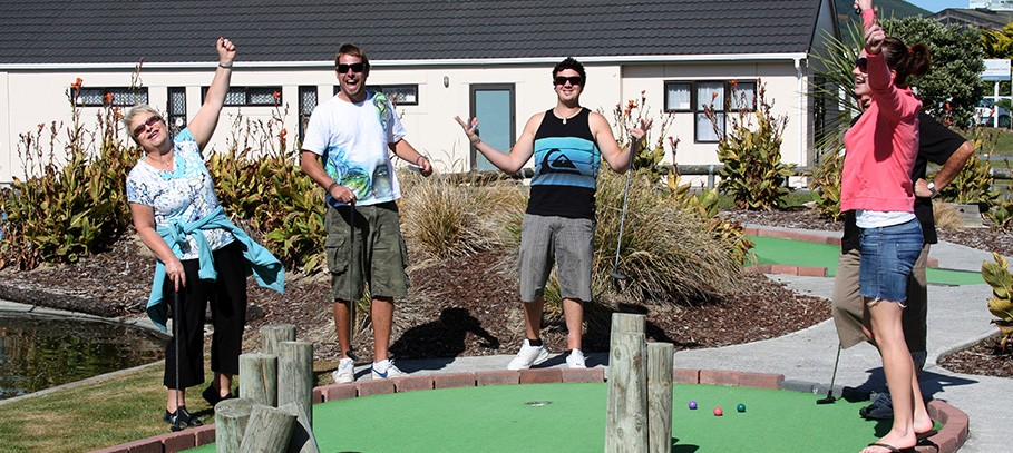 Having fun. The Original Adventure Golf.