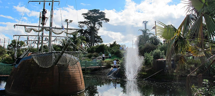 A pirate ship. The Original Adventure Golf Image 2.jpg